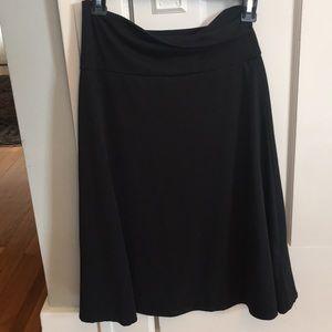 LulaRoe black swing skirt. Medium. Azure style.